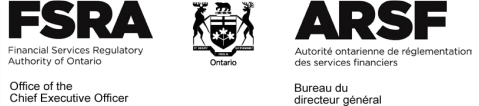 Financial Services Regulatory Authority of Ontario - Office of the CEO