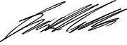 Signature of Brian Mills, Chief Executive Officer and Superintendent of Financial Services, Financial Services Commission of Ontario