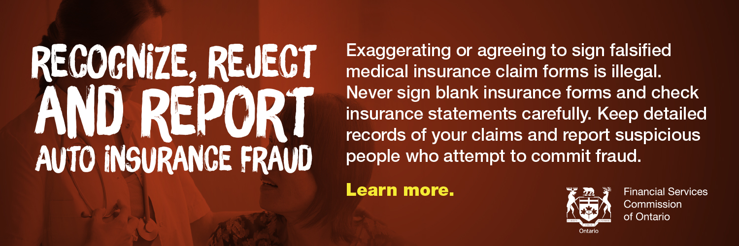 Recognize, Reject and Report auto insurance fraud