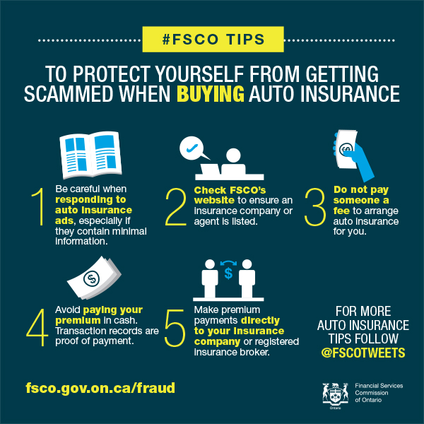 To protect yourself from getting scammed when buying auto insurance