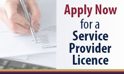 Apply Now for a Service Provider Licence